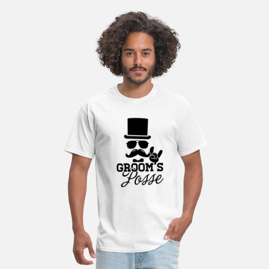 Party T-Shirts - Groom Wedding Marriage Stag night bachelor party - Men's T-Shirt white