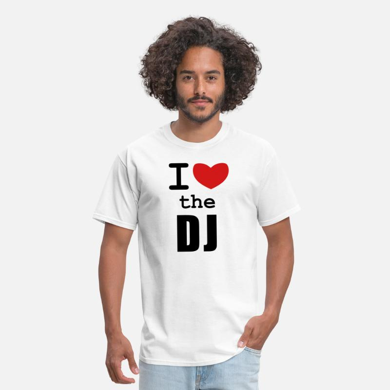 Dj T-Shirts - I Love the DJ - Men's T-Shirt white