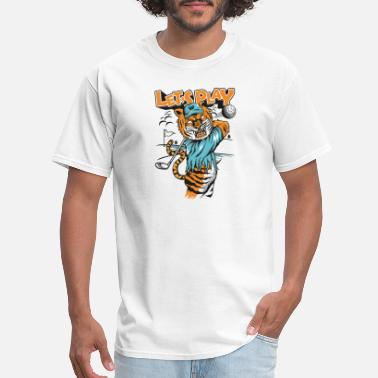 Comic Strips Tiger-plays-golf-comic strip - Men's T-Shirt