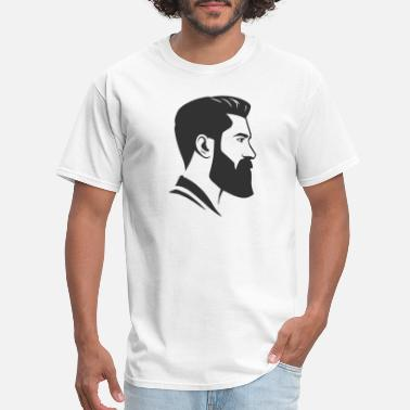 Undercut Head Face Shape Beard Undercut Hair Cut Undercut - Men's T-Shirt