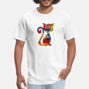 Abstract Cat Cat abstract - Men's T-Shirt