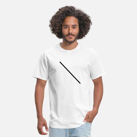 Line T-Shirts - Diagonal Line - Left - Men's T-Shirt white