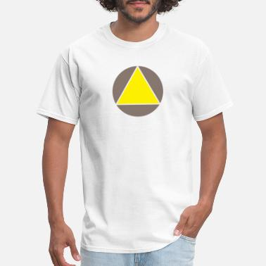 Yellow Triengle Yellow - Men's T-Shirt