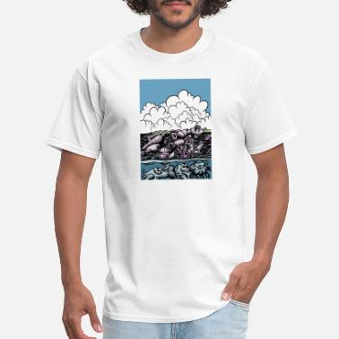 Plastic No to plastic in the seas - Men's T-Shirt