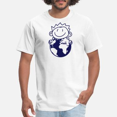 Ballads globe ball earth planet world protected organic bi - Men's T-Shirt