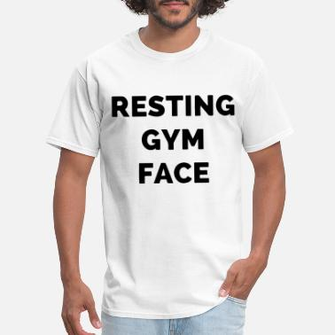 Tits Gym Resting Gym Face Muscle Tee funny workout tank gym - Men's T-Shirt