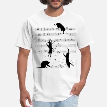 Classical Music Cat and Sheet Music Classic T Shirt - Men's T-Shirt