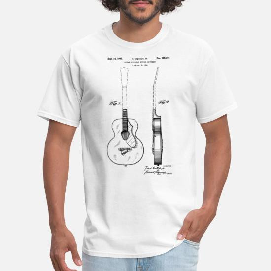 ACOUSTIC GUITAR PERSONALISED POCKET LOGO T SHIRT MUSCIAL INSTRUMENT