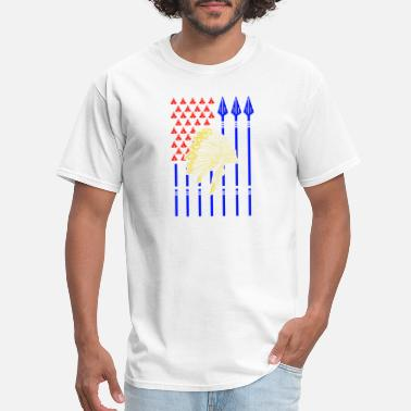 Usa Native American USA Native American with flag - Men's T-Shirt