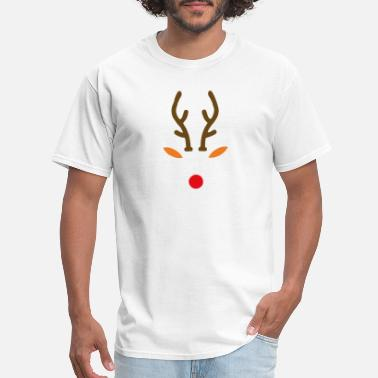 Red Nose Rudolph The Red Nose Deer funny tshirt - Men's T-Shirt