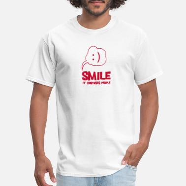 Smile It Confuses People - Men's T-Shirt