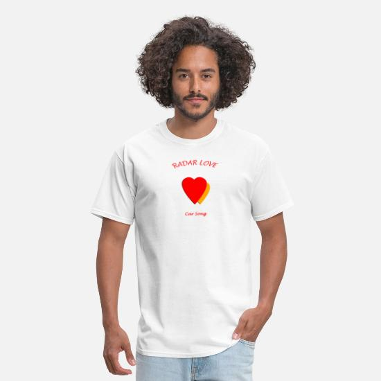 Love T-Shirts - Radar Love Yellow - Men's T-Shirt white