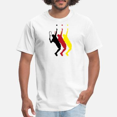Tennis Court Germany tennis players - Men's T-Shirt