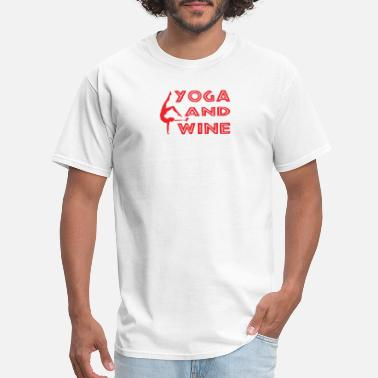 Yoga And Wine Yoga And Wine - Men's T-Shirt