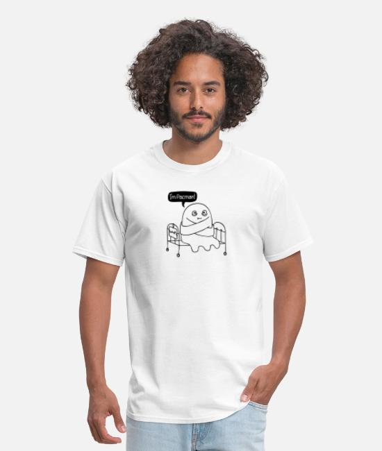 Pop Art T-Shirts - crazy ghost - Men's T-Shirt white