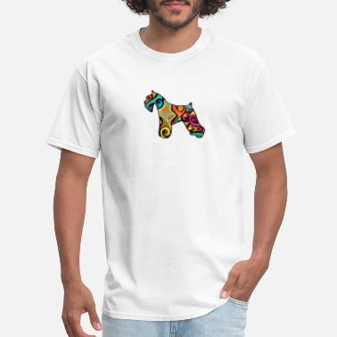 Psychedelic Quotes Psychedelic Miniature Schnauzer - Men's T-Shirt