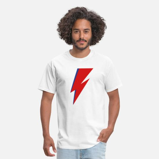 David Bowie T-Shirts - Lightning Bolt - Men's T-Shirt white