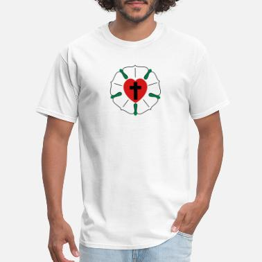 Crosses Luther rose - Men's T-Shirt