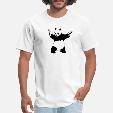 Panda Panda with guns - Men's T-Shirt