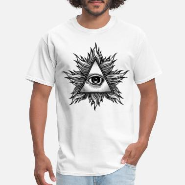 Illuminati Baby Illuminati Eye of Providence Conspiracy Theory Lon - Men's T-Shirt