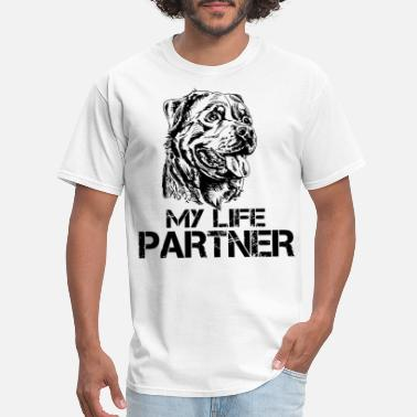 Partners For Life my life partner dogs - Men's T-Shirt