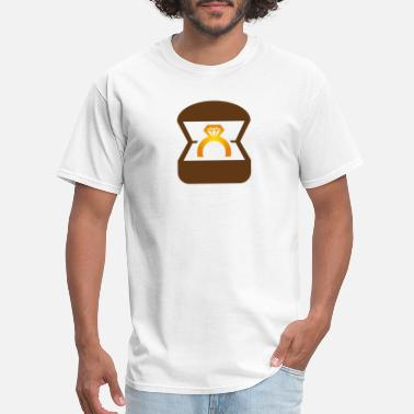 Wedding Couple Ring An Engagement Ring / Wedding Ring - Men's T-Shirt