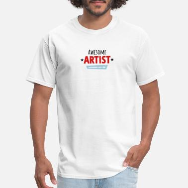 Motto Graffiti Awesome Artist - Men's T-Shirt