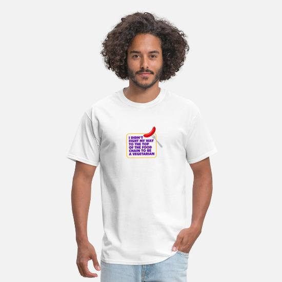 Chain T-Shirts - I'm On Top Of The Food Chain Not A Vegetarian - Men's T-Shirt white