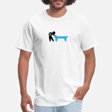 Billiards Player Pool Table A Pool Player Is On The Pool Table - Men's T-Shirt