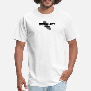 State CALIFORNIA NATIONAL CITY US STATE EDITION - Men's T-Shirt