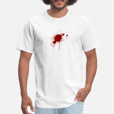 Gunshot Wound Blood Spatter From A Bullet Wound - Men's T-Shirt
