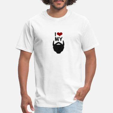 Love My Beard I Love My Beard | Funny Beard Gym Tank Top - Men's T-Shirt