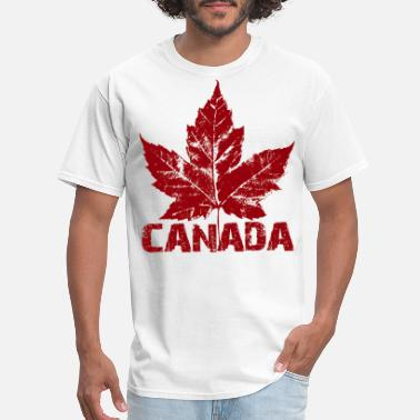 Canada Cool Canada Souvenir Distressed Maple Leaf Art - Men's T-Shirt