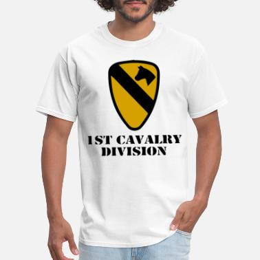 Army Cavalry Military US Army 1st Cavalry Division Veteran Full Color pa - Men's T-Shirt