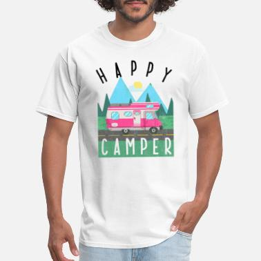 Camper Trailer Happy Camper Camp Trailer park the Motorhome gift - Men's T-Shirt
