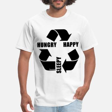 Annoyed Hungry Happy Sleepy Cycle. - Men's T-Shirt