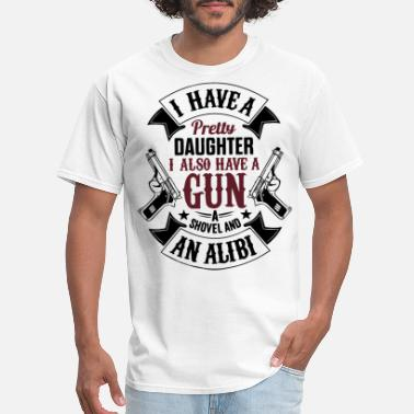 Gun Daughter Daughter and Gun - Men's T-Shirt