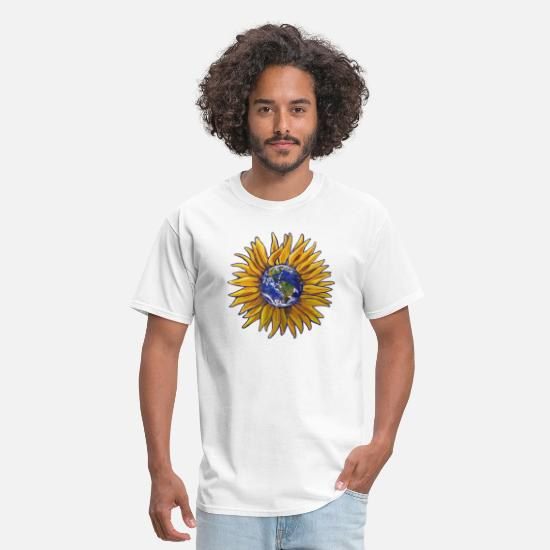 Love T-Shirts - Sunflower Earth - Men's T-Shirt white