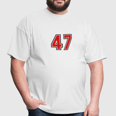 47 sports jersey football number - Men's T-Shirt