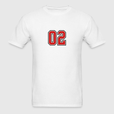 02 sports jersey football number - Men's T-Shirt
