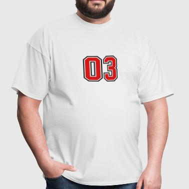 03 sports jersey football number - Men's T-Shirt