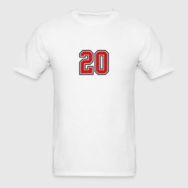 20 sports jersey football number - Men's T-Shirt