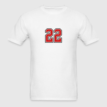 22 sports jersey football number - Men's T-Shirt