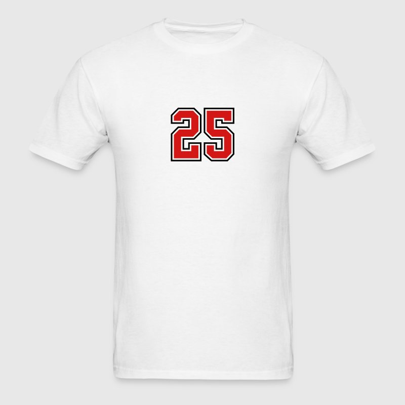 25 sports jersey football number - Men's T-Shirt
