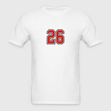 26 sports jersey football number - Men's T-Shirt