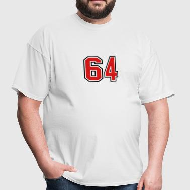 64 sports jersey football number - Men's T-Shirt