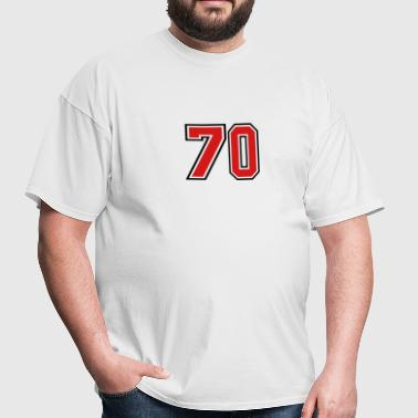 70 sports jersey football number - Men's T-Shirt