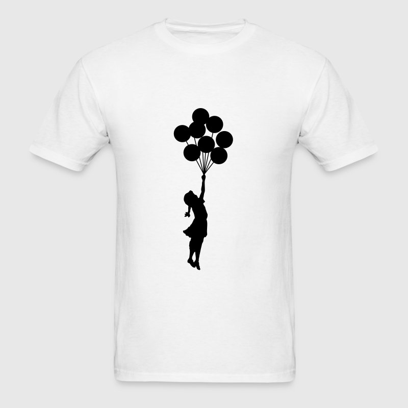 Banksy Girl with Balloons - Men's T-Shirt