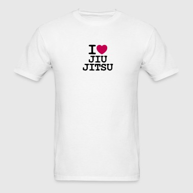 i love heart jiu jitsu - Men's T-Shirt