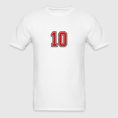 10 sports jersey football number - Men's T-Shirt